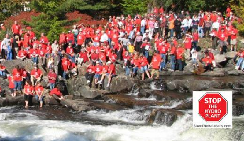 200 People Protest Ford's 180 On Bala Falls