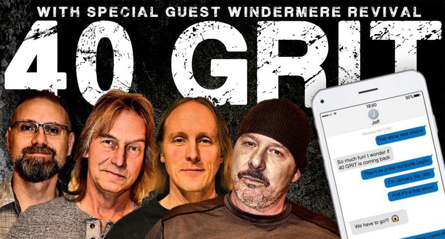 Hunters Bay Radio Presents 40 GRIT January 18th at 7:00