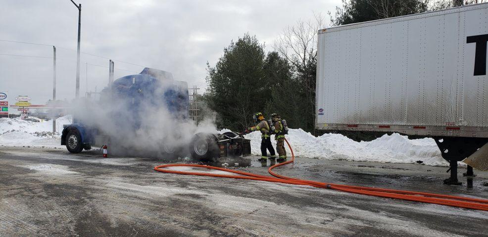 Gravenhurst Fire Responds To Tractor Trailer Fire
