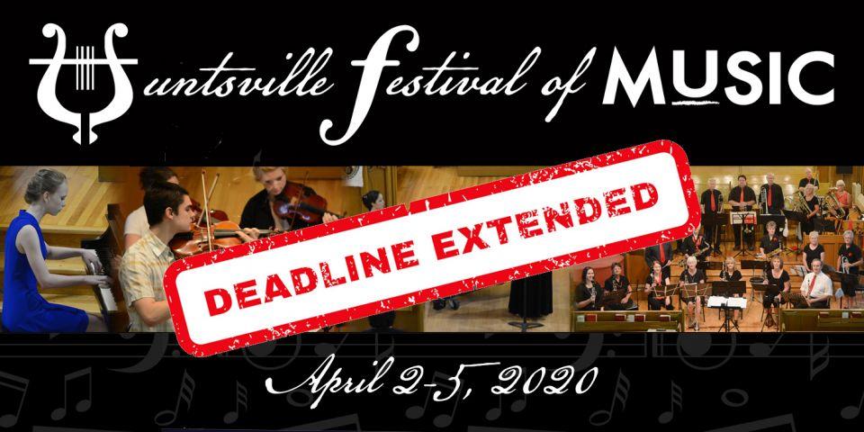 Huntsville Festival Of Music Extends Entry Deadline