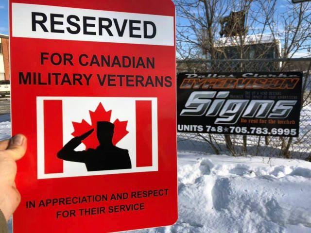 Huntsville Man Offering Businesses Reserved For Veterans Parking Signs