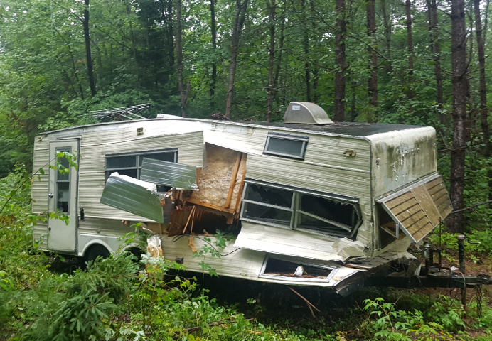 MNRF Looking For Owner Of Abandoned Camper