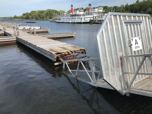 Gravenhurst Working To Fix A Dock At The Wharf
