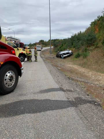 Single Vehicle Roll Over Sends Three To Hospital