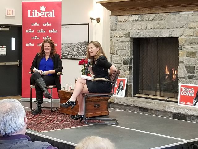 Christia Freeland In Huntsville To Support Local Liberal Candidate