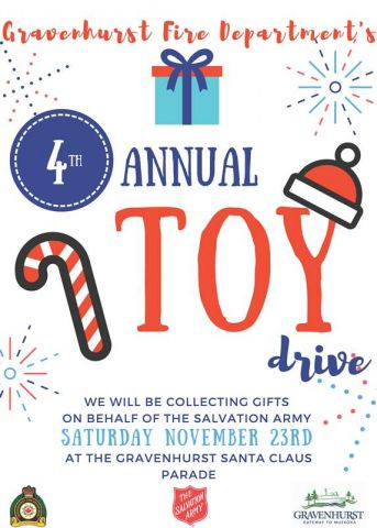 Bring Toy Donations To Gravenhurst Santa Claus Parade