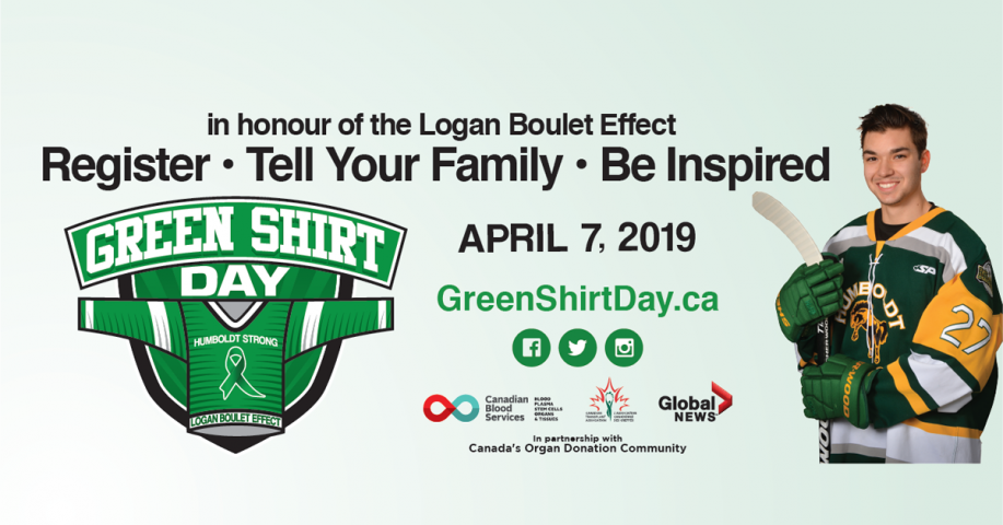 Register To Become An Organ Donor For Green Shirt Day