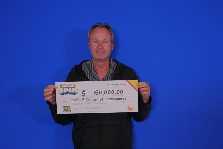 Gravenhurst Man Wins $150,000