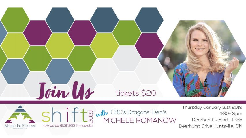 Dragon's Den Michele Romanow Keynote Speaker At Muskoka Futures Event