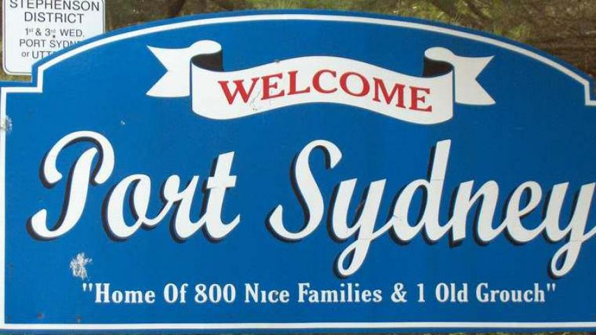 Port Sydney Replacing 'Old Grouch' Town Entry Signs