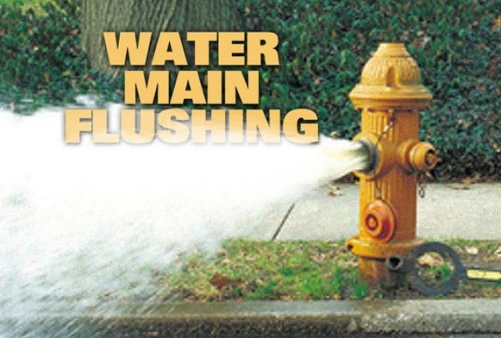 Watermain Flushing Underway