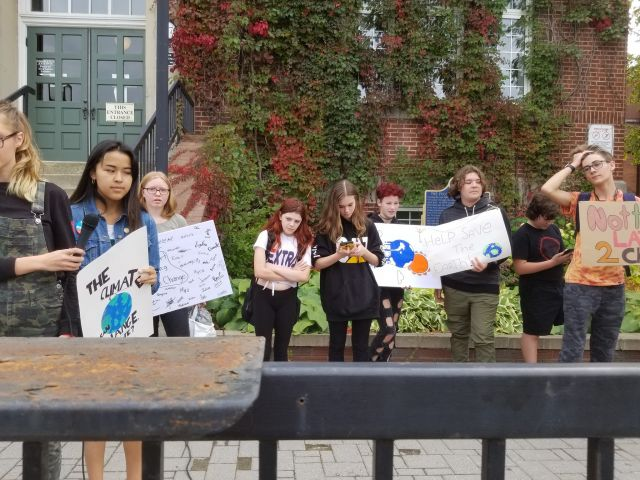 Student Protests For Climate Change Action Today