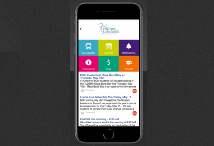Trillium Lakelands School Board Offers New Mobile App