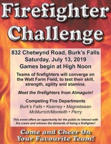Firefighter Challenge Takes Place Saturday
