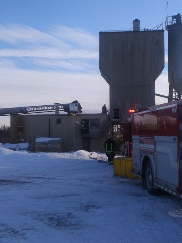 Blow Torch Blamed For Fire At Cement Plant