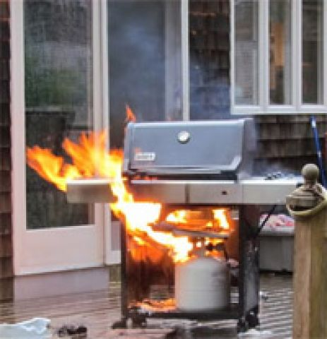 Fire Dept Recommends You Check Your BBQ Before Grilling