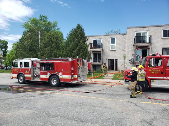 Firefighters Extinguish Fire In Gravenhurst Apartment Building