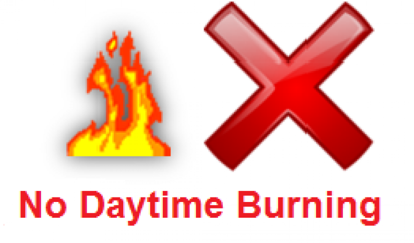 No Daytime Burning Rules Take Effect