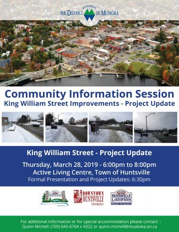 District Hosts Information Session For King William Street Construction On March 28th