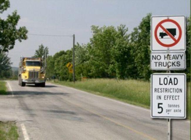 Gravenhurst Announces Load Restrictions On Area Roads