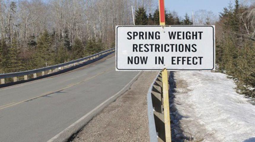 Load Restrictions Begin Today In Huntsville