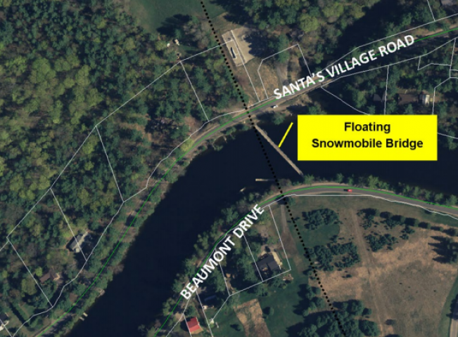 Muskoka River Closed to Navigation (Lot 3, Concession 13) - Installation of a Floating Snowmobile Bridge