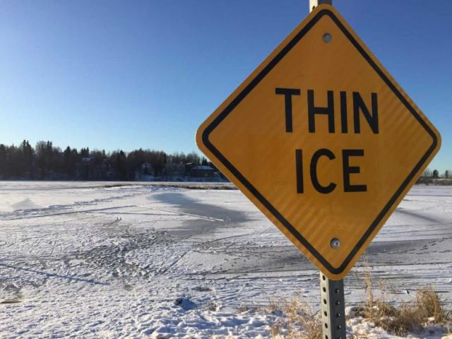 Police Warn of Dangerous Ice Conditions