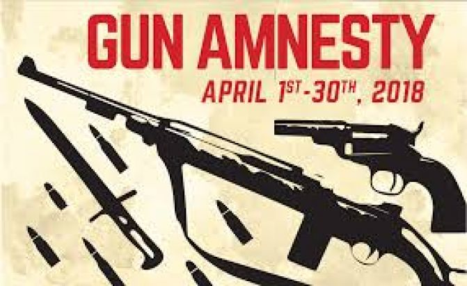 1500 Guns Taken Off The Street During Gun Amnesty Month
