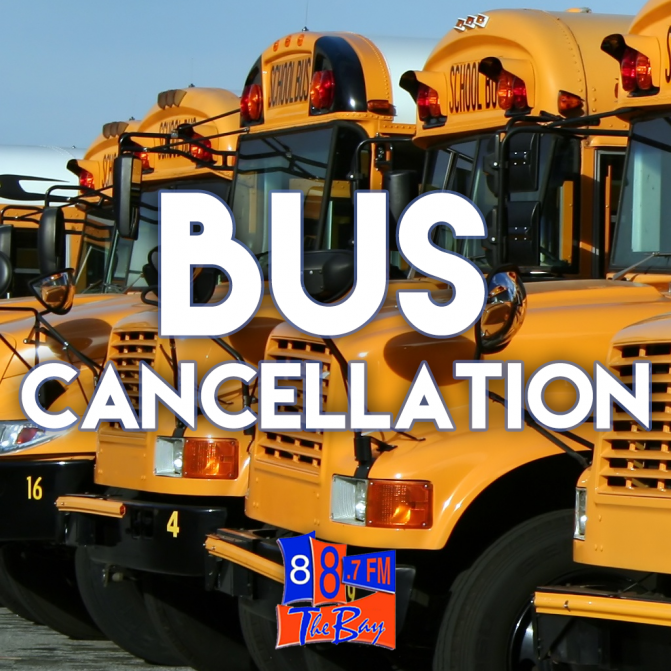 Bus Cancellations for Wednesday Jan 23