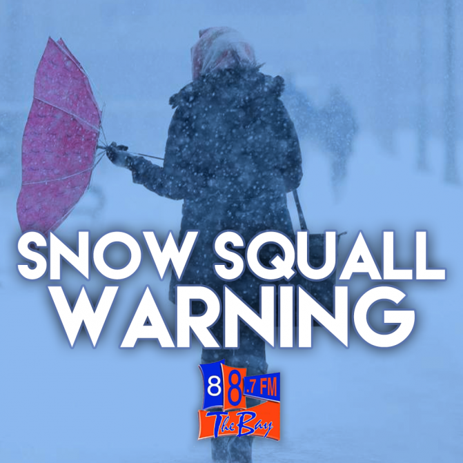 Snow Squall Warning In Effect