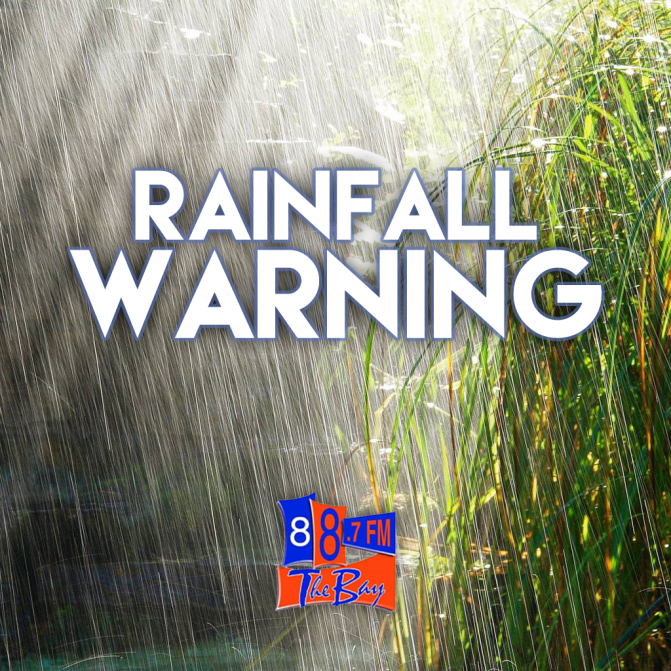 Rainfall Warning In Effect